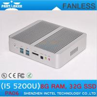 Wholesale Fanless Mini PC Intel Core i5 5200u with HD Graphics 5500 Mini ITX PC with Dual Gigabit La from china suppliers