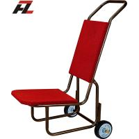 Wholesale Hotel Black Powder Coated Stack Metal Chair Trucks-Banquet Chair Hand Truck from china suppliers