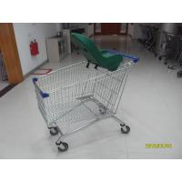 Buy cheap 210L Zinc Plated Colorful Coating Shopping Cart With Safety Baby Capsule from wholesalers
