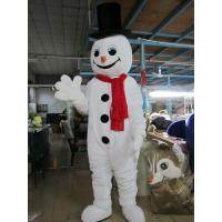 Buy cheap Handmade Propaganda Adult White Snowman Mascot Costume from wholesalers