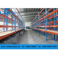Wholesale Corrosion Protection Steel Rack Storage , Metal Pallet Racks With Plywood Board from china suppliers