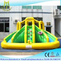 Wholesale Hansel PVC material kids water park games inflatable bouncers with water slide from china suppliers