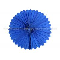 Wholesale Blue , Pink Hanging Paper  Fans / Tissue Paper Cardboard Artificial Style from china suppliers