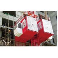 Wholesale Hot Dipped Zinc / Painted Passenger Hoist 3*1.5*2.5m Material Hoist With Twin Cage from china suppliers
