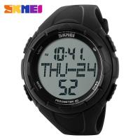 Wholesale Large Dial Pedometer 3D Mens Digital Watches With LCD Digital Movement from china suppliers