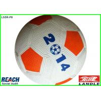 Wholesale Custom Printed 2014 Rubber Soccer Ball with OEM Logo , White and Red from china suppliers