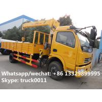 Wholesale Dongfeng duolika 4*2 LHD 4 ton  military xcmg small truck crane for sale, best price 4tons 120hp truck mounted crane from china suppliers