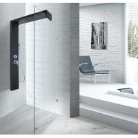 Wholesale Black Shower Column 1500 X 900 Shower Enclosure With Double Clip SS Flexible Hose from china suppliers