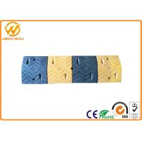 Wholesale Heavy Duty Yellow and Black Low Car Rubber Speed Bump for Parking Lot /  Gas Station from china suppliers
