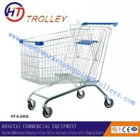 Wholesale Large 240L Zinc Plated Anti - static Steel Basket Shopping Cart Unfolded For Airport from china suppliers