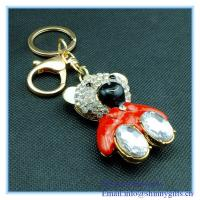 Wholesale Fashion animal bear shape metal keychain from china suppliers