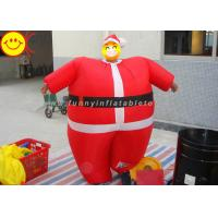 Wholesale Nylon Lightweight Advertising Costumes , Red Inflatable Santa Costume With Fabric Material from china suppliers