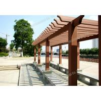 Wholesale WPC park pergola,outdoor plastic wood pergola,series colors for choose with customized size from china suppliers
