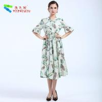 Wholesale Largos Casual Long Cotton Summer Dresses None Decoration For Beach from china suppliers