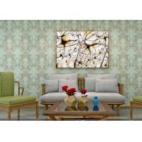 Wholesale Waterproof PVC Green Damask Victorian Pattern Wallpaper With Non Woven Materials from china suppliers