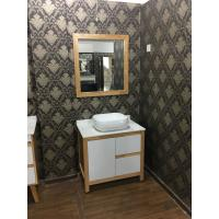 Wholesale Contemporary Square Sinks Bathroom Vanities With Mirror / 32 Inch White Bathroom Vanity from china suppliers
