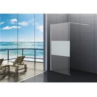 Buy cheap 6mm Tempered Clear Glass Walk In Shower Enclosures For Cottage from wholesalers