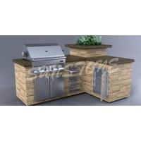 Quality Gas Barbecue Island for sale