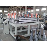 WPC PVC Foam Board Extrusion Line , 5 - 25mm Thickness Wood Plastic Composite Machine