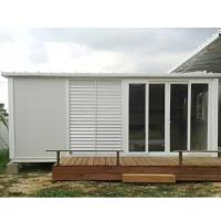 Wholesale construction site flat pack container house foldable container home from china suppliers