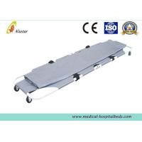 Wholesale Alimimum Alloy Medical Emergency 2 Folding Rescue Stretcher , Foldable Funeral Products from china suppliers