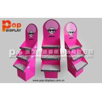 Wholesale Custom 3 Tiers Trapezoid Cardboard Display Stands For Cotton Candy Promotion from china suppliers