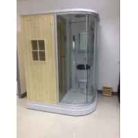 Wholesale Recantangel Sauna Room Bathroom Shower Cabins 2 Sided Waste Drain / Wooden Room from china suppliers