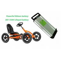 Wholesale Powerful 36V 15AH LiFePO4 Electric Bike Lithium Battery , Children's Cart Lithium Battery from china suppliers