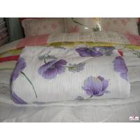 Wholesale Queen Size Purple Flower Printed Polyester Custom Home Comforters from china suppliers