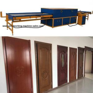 Wholesale Cabinet door skin PVC foil laminating vacuum heating vacuum membrane press machine from china suppliers