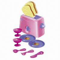 Wholesale 10-piece Wind Up Toaster Kitchen Set Toys with Tableware from china suppliers