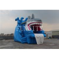 Wholesale Shark Theme Blue Inflatable Dry Slide For Inflatable Water Park Games EN14960 from china suppliers