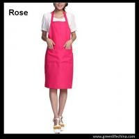 Wholesale Plain stock aprons OEM rose color imprinted aprons for advertisment eco-friendly fabric from china suppliers