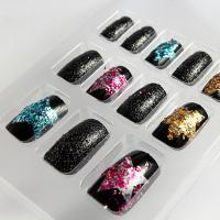 Wholesale Fashionable Girls Glitter Fake Nails Art Star Pattern Salon Artificial Nail from china suppliers