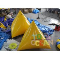 Wholesale Durable Inflatable Water Game 2M Yellow Floating Inflatable Pyramid Water Buoy from china suppliers