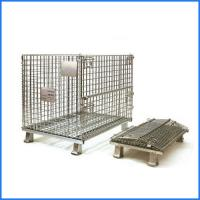 Wholesale Industrial welded stackable metal pallet size steel container from china suppliers