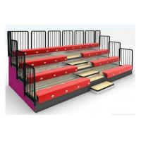 Wholesale Classic 4 Row Portable Indoor Bleachers Adjustable With Aluminum / Steel Seats from china suppliers