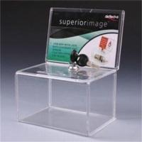 Wholesale acrylic decorative money donation box with lock and key from china suppliers
