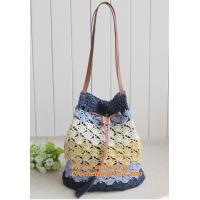 China Straw pattern beach bags women handbag Women Bag in shoulder pouch for female bags on sale