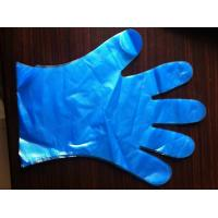 Buy cheap Colored PE examination gloves,PEVA disposable gloves,smooth/embossed surface,weight 1.0g from wholesalers