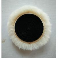 Wholesale 5/8 scew wool buffing pad 6 inches wool polishing bonnet with wax from china suppliers