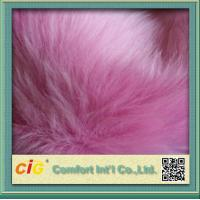 Quality Plain Printed 100% Acrylic Faux Fur Fabric for sale