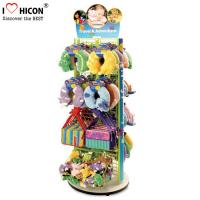 Wholesale 2 - Way Flooring Display Stands Grid Back Wood Base Kids Toy Display Shelving from china suppliers