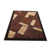 Wholesale Customized Brown Polyester Patterned Shaggy Rugs, Modern Contemporary Area Rug from china suppliers
