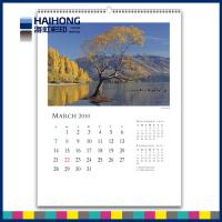 Wholesale A3 size Spiral wall calendar printing services with thick art paper from china suppliers