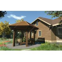 Wholesale wood plastic composites free gazebo plans OLDA-6008C 5m*5m*4.1m (16.4ft.*16.4ft.*13ft.) from china suppliers