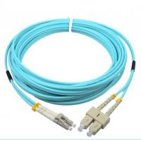 Wholesale Corning cable SC/PC-LC/PC OM3 50/125 2.0mm aqua fiber optic hybrid jumper from china suppliers