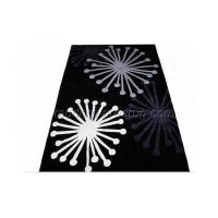 Wholesale Contemporary Black Acrylic Floral Area Rug, Floor Hand-tufted Rug For House Decoration from china suppliers
