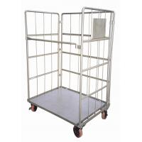 Wholesale Single / Double Box Stainless Steel Kitchen Trolley , Metal Trolley With Wheels from china suppliers