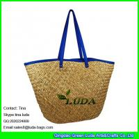 Wholesale LUDA 2016 new products seagrass straw handbags with leather strap from china suppliers